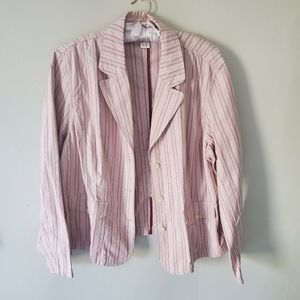 Northern Reflections Pink Striped Blazer